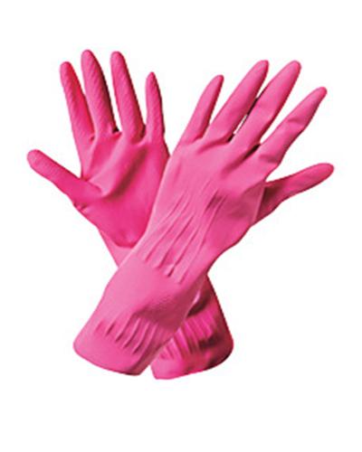 Перчатки резиновые хозяйственные лотос