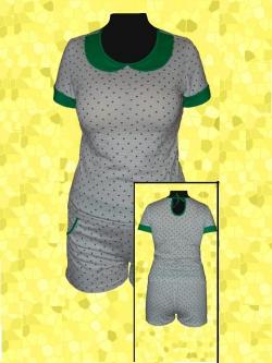 пижама трикотажная с шортами